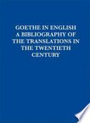 Goethe in English