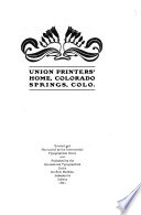 Union printers home  Colorado Springs  Colo