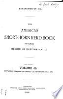 The American Short horn Herd Book