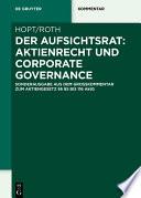 Der Aufsichtsrat: Aktienrecht und Corporate Governance