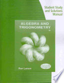 Student Study and Solutions Manual