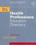 health professions 1998 1999