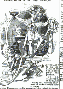 Happy New Year! from the January 8, 1876, issue of Punch, or the London Charivari (page 287)