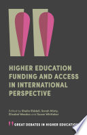 Higher Education Funding and Access in International Perspective