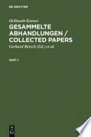 Gesammelte Abhandlungen / Collected Papers