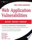 Web Application Vulnerabilities book