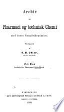 Archiv for Pharmacie Og Technisk Chemie Med Deres Grundvidenskaber