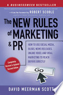Ebook The New Rules of Marketing and PR Epub David Meerman Scott Apps Read Mobile