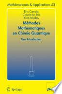 illustration Méthodes mathématiques en chimie quantique. Une introduction