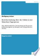 Berichterstattung über die S-Bahn in der Münchner Tagespresse
