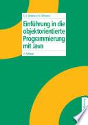 Einf Hrung In Die Objektorientierte Programmierung Mit Java
