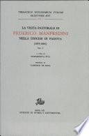 La visita pastorale di Federico Manfredini nella diocesi di Padova  1859 1865