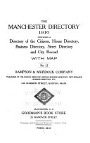 The Manchester, New Hampshire, Directory ...
