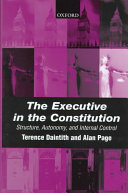 The Executive in the Constitution The Air It Is Vital To