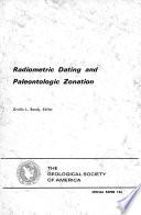 Radiometric Dating and Paleontologic Zonation
