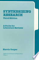 Synthesizing Research
