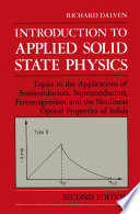 Introduction to Applied Solid State Physics