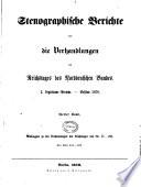 Stenographische Berichte [und Anlagen] über die Verhandlungen des Reichstages des Norddeutschen Bundes