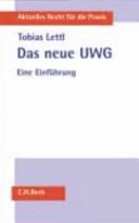 Das neue UWG