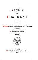 Archiv der Pharmacie