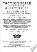 illustration Dictionnaire universel d'agriculture et de jardinage, de fauconnerie, chasse, pêche, cuisine et manége, en deux parties