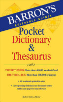 Barron s Pocket Dictionary   Thesaurus