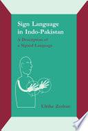 Sign Language in Indo Pakistan