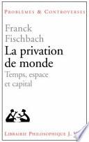 illustration du livre La privation de monde