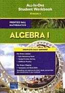 Prentice Hall Math Algebra 1 Student Workbook 2007