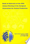 Book of Abstracts of the 60th Annual Meeting of the European Association for Animal Production