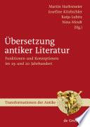 bersetzung antiker Literatur
