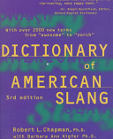 Dictionary of American Slang, Third Edition