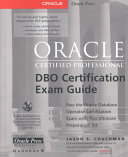 Oracle certified professional DBO certification exam guide