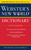 Webster s New World Dictionary  Fifth Edition