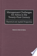 Management Challenges for Africa in the Twenty first Century