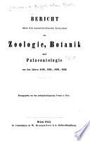 Bericht über die österreichische literatur der zoologie
