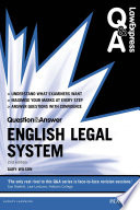 Law Express Question and Answer  English Legal System 2nd edn