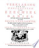 Verklaring van de profeetsyen van Ezechiel en Daniel