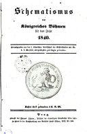 Schematismus des Königreiches Böheim auf das Jahr 1840