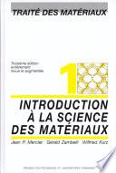 Introduction    la science des mat  riaux