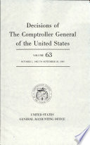 Decisions of the Comptroller General of the United States