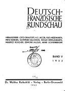 Deutsch franz  sische Rundschau