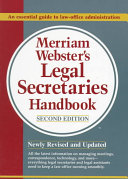 Merriam Webster s Legal Secretaries Handbook