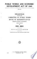 Public Works and Economic Development Act of 1965 Book PDF