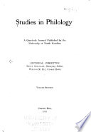 Studies in Philology
