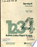 Bulletin Index-digest System. Service 4: Excise Taxes