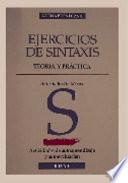 Ejercicios de sintaxis. Teoría y práctica