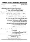 Pakistan Journal Of Applied Economics
