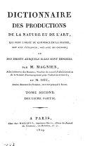 Dictionnaire des productions de la Nature et de l'Art