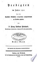 Predigten  in den Jahren  1795 1812 bey dem Churf  rstl